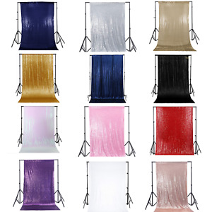 Glitter Sequin Backdrop Background Curtain Wedding Party Photoshoot Booth Decor