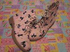 Cutie cat canvas fabric shoes pink color