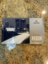 07 2007 Acura Rdx owners manual