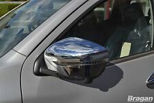 To Fit 2016+ Nissan Navara NP300 Chrome Mirror Covers Set 2 Piece