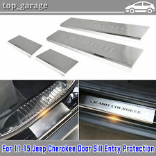 4X 2011-2016 Jeep Grand Cherokee Door Sill Guard Protector Trim Stainless Steel