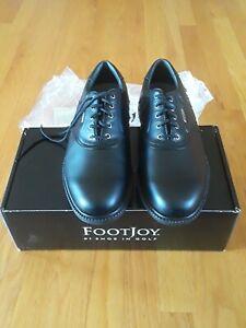 Footjoy FJ Superlites Men's Sz 10.5M Black Leather Lace Up Golf Shoes 58064 NIB!