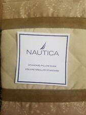 New Nautica Harrison Beige Brown Standard Pillow Sham