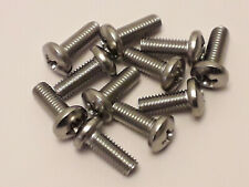 """3/16 (10-32) UNF x 1/2"""" A2 STAINLESS STEEL PAN HEAD PHILLIPS SCREW x 10"""