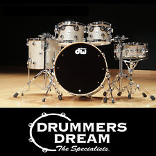 NEW DW COLLECTORS SERIES 4Pce Drum Shell Kit Set  BROKEN GLASS -Maple / Mahogany