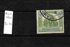 Federated Malay States, 1904 $5 elephants, wmk Mult Crown CA, used (M433)