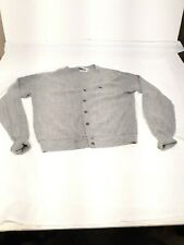 Vintage izod lacoste sweater large distressed cool hippie grey gray