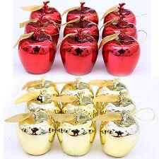 UP Christmas Tree Xmas Apple Decorations Baubles Party Wedding Ornament 12 pcs