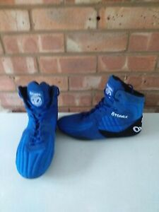 Blue & Black Otomix Bodybuilding Powerlifting Gym Training Boots Shoes Size 10