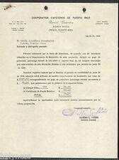 VINTAGE COMMERCIAL LETTER / COOPERATIVA DE CAFETEROS DE PUERTO RICO / 1954