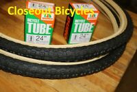 "Pair (2) DURO 24 x1.75""  Tires/Tubes BMX Bike Skin Wall"