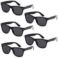 5 PAIR LOT Black Sunglasses Wholesale Small Medium Large Bulk Pack