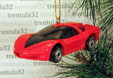 1988 PONTIAC BANSHEE '88 Concept Car CHRISTMAS TREE ORNAMENT Red Black  XMAS