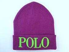 61312b05e98 Womens Polo Ralph Lauren Script Winter Hat Cap Beanie Cashmere Blend