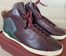 $600 Bally Etius Maroon Leather High Tops Sneakers size US 13.5