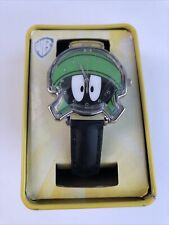 Looney Tunes Marvin The Martian Analog Watch With Collectible Tin Accutime New