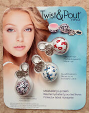 Twist & Pout Revo Keychain Lip Balms Pack 3 - Brand New and Sealed