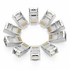 Ugreen RJ45 Cat6 Connector 10 Pack Cat5E Cat5 Ethernet Network Cable Plug 8P8C
