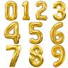102cm Tas Chiffres Feuille Ballon pour Anniversaire Fête Décorations Doré 0 9