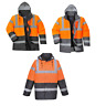 Portwest S467 HiVis Two Tone Traffic Jacket Waterproof Protection Windproof Coat