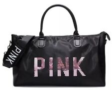 ae34f91ce8e Victoria s Secret PINK Sequin X- Large Bag Gym Yoga Holiday Travel Weekend  Black