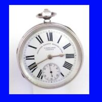 Stunning Silver Rowlands of Caersws Welsh Patent Fusee Lever Pocket Watch 1898