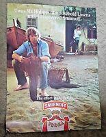 """1970's SMIRNOFF VODKA POSTER ADVERTISEMENT """"Mr. Holmes"""" 16.25"""" x 22.25"""" #15"""