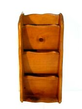 Kamenstein Thailand Solid Wood Mail Caddy 3 Slots Wall Hanging Mail Organizer