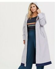 Torrid Womens Plus Doctor Who Trench Coat Jacket 4 4x NWT