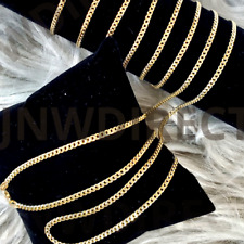 """10K Yellow Gold 1.5mm or 2mm Real Miami Cuban Link Chain Necklace 16""""-30"""""""