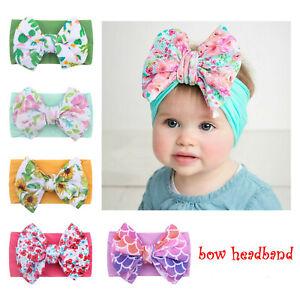 Baby Cotton Rabbit Headband Elastic Bowknot Hair Band Girls Bow-knot Newborn Bow