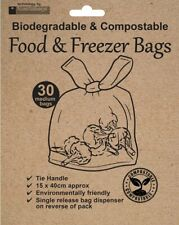 30 x Organic Eco Frendly Food & Freezer Bags Biodegradable & Compostable