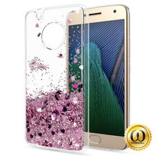 For Motorola Cell Phone Motion Liquid Quicksand Glitter Hybrid Rubber Case Cover