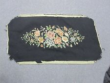"Vintage Old Hand Stitched Needlepoint Petit Point 15"" x 30"" Bench Seat Cover"