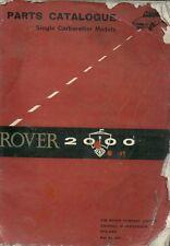 ROVER P6 2000 SC SALOON ( 1963 - 1966 ) ORIGINAL FACTORY SPARE PARTS CATALOGUE