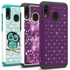 CoverON Samsung Galaxy A30 / A20 Case Cute Bling Hard Hybrid Girls Phone Cover