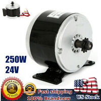 250W 24V Electric Motor Brushed 2750RPM For E-Bike Scooter 12 Teeth razor MY1016