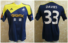 Swansea City #33 Ben Davies MATCH WORN 2013/2014 Away Size M Adidas shirt jersey