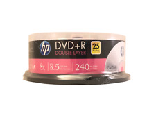 25 discs HP Double Layer DVD+R Logo Branded - Dual Layer, 8X, 8.5 GB, 240 mins