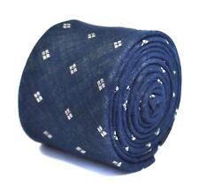 Frederick Thomas jeans bleu et blanc pointillé modèle 100% coton cravate