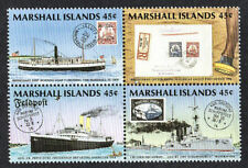 MARSHALL ISLANDS, SCOTT # 226-229, BLOCK OF POSTAL HISTORY, SHIPS, PHILEXFRANCE