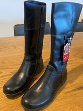 Brand New Black Leather Boots - child's size 8, size 8.5, size 9 & size 2 youth