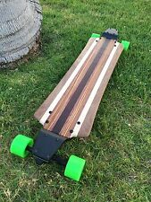 Longboard with Drop Plates made of Exotic Woods - Makena