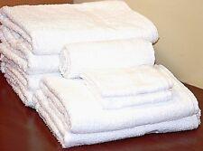 1 Dozen NEW Hand Towels 16 x 27 Poly/Cotton Blend White Super Soft Hotel Resorts