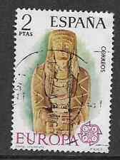 La SPAGNA emissione postale utilizzato TIMBRO COMMEMORATIVA 1974 CEPT EUROPA-Sculture in pietra
