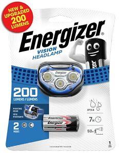 Energizer Vision LED 200 Lumens Headlight Headlamp with Pivoting Head & 2 Modes