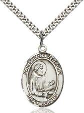 Sterling Silver Catholic Saint Bonaventure Medal, 1 Inch