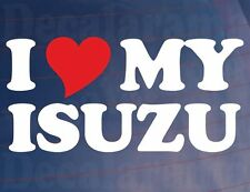 Truck Sticker I LOVE HEART MY ISUZU Novelty Vinyl Decal for Isuzu Van Window