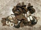 Vtg Antique Caster Lot Wheels Steel Parts Repair Restoration Read Descrpt 26 Pcs