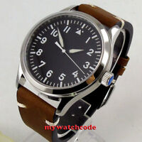 42mm corgeut black dial white marks sapphire glass ST1612 automatic mens Watch